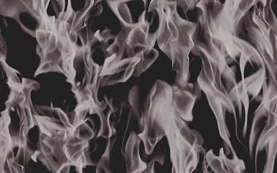 423-Black-Clear-Flames-Fire-Hydrographics-Film-Pattern-Buy-Quarter-WHITE-